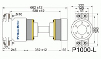 P1000-L - P1000-L afmetingen