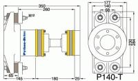 P140-T - P140-T afmetingen
