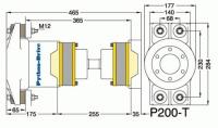 P200-T - P200-T afmetingen