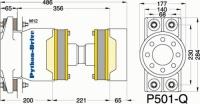 P501-Q - P501-Q afmetingen